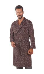 Мужской халат из мелкого вельвета B&B B&B_Laurence marrone