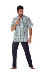 Пижама мужская из хлопка и льна B&B B&B_U2951