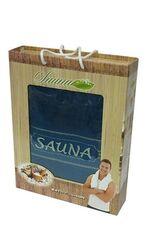 Большое махровое полотенце для бани-сауны SAUNA - 100x170 см (EA DNZ Сulcan). Подарочная коробка.