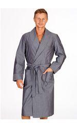 Легкий мужской домашний халат из натурального хлопка B&B B&B_Genova grigio