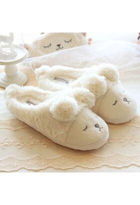 Тапочки домашние без задников BEARS White (H1010)