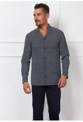 Пижама для мужчин с удобной застежкой на пуговицах Manam MU_8008