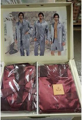 Шелковый халат и пижама NUSA