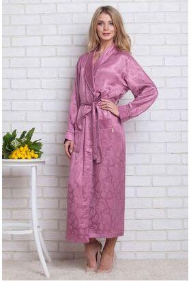 Женский атласный халат из бамбука Silk bamboo (LNS)