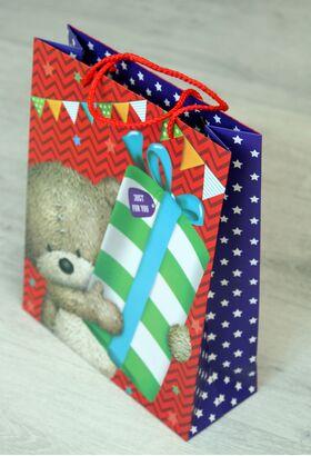 Подарочный пакет в ассортименте средний
