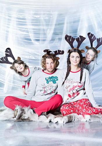 Парные пижамы с новогодним рисунком – волшебство уютного сна!