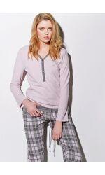 Женский домашний комплект с клетчатыми брюками Rebecca & Bross. R&B_3447