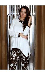 Необычная пижама с цветами из вискозы Manam M_8973