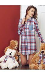 Стильная домашняя рубашка в клетку Miss Lingerie DiBen_Biba