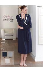 Длинный синий халат для женщин Miss Lingerie Diben_Luana