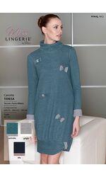 Уютное домашнее платье с бантиками Miss Lingerie DiBen_Teresa