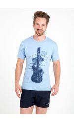 Мужская летняя футболка с гитарой Ferrucci FE_2718 Armonia cielo