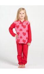 Теплый детский домашний комплект с сердечками Piccola Miss DiBen_Jasmine