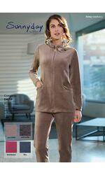 Женский велюровый костюм бежевого цвета Sunnyday DiBen_Daisy