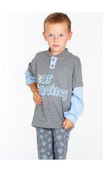 Пижама для мальчиков из плотного хлопка Snelly Snelly_50026 grigio