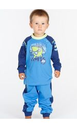 Детская трикотажная пижама с удобной застежкой на плече Stella Due Gi N4817