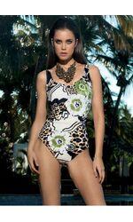 Слитный купальник леопардовой расцветки с цветами David David_4501-С4