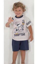 Летний домашний комплект с веселым рисунком на футболке Stella Due Gi N5432