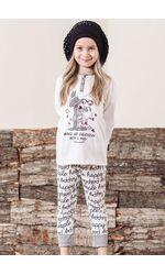 Пижамка для девочки с волком и овечкой Happy people HP_2722