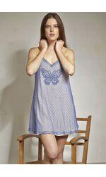Ночная сорочка из двойной ткани с бабочкой Rebecca & Bross. R&B_3325