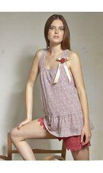 Комплект для сна с кружевными шортами Rebecca & Bross. R&B_3336