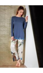 Шикарная женская пижама из натурального шелка и модала Verdiani VI_4843