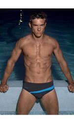 Серые классические мужские плавки в бассейн David David_4911W_14