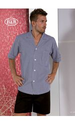 Хлопковая мужская пижама с шортами B&B B&B_U423