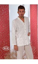Роскошная мужская пижама из натурального льна B&B B&B_1436