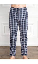 Мужские хлопковые брюки для дома Grino Pellegrini_Trousers flanella blue