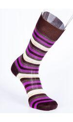 Итальянские мужские носки в полоску Best Calze Best Calze_5634 коричневый