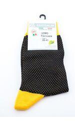 Носки в крапинку с ярким носком и пяткой Best Calze Best Calze_4C56 желтый