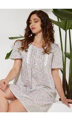 Классическая ночная сорочка в цветок Vilfram V_10008