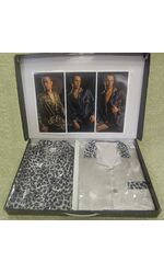 Шелковый халат и пижама Leopardo (EA)