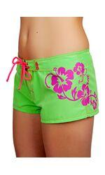 Женские короткие пляжные шорты: салатовые, фиолетовые Off Limits Off Limits_1331