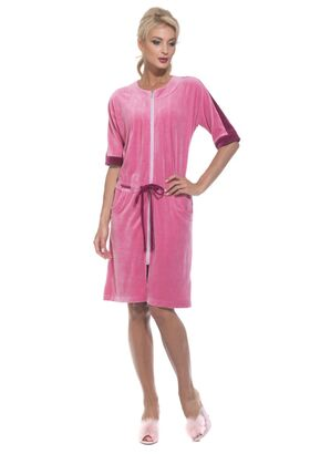 Велюровый халат на молнии Pretty (PM 392)