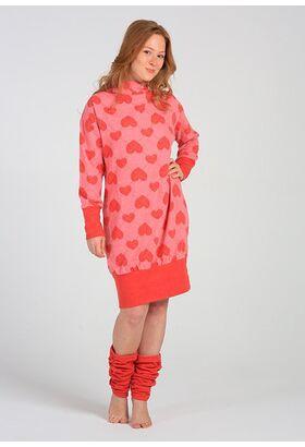 Красное домашнее платье с сердцами Miss Lingerie DiBen_Lori