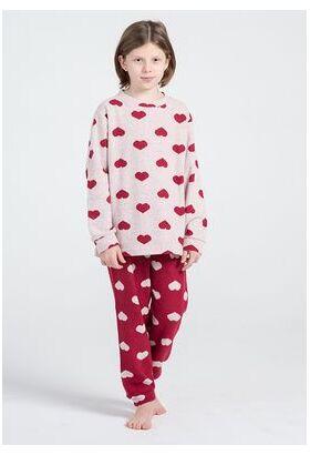Домашний костюм  с сердечками для девочек Pop corn R7013