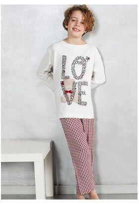 Пижама для девочек с надписью LOVE Pop corn  R6947