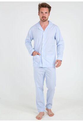 Классическая хлопковая пижама в тонкую полоску Grino Pellegrini_Charly 102