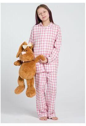 Пижама для девочек из натурального хлопка (фланели) Honey Pellegrini_Lucy girl flanella 890