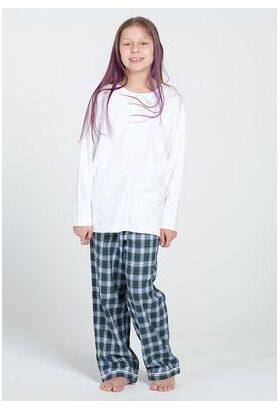 Белая кофточка с брюками из фланели Honey Pellegrini_Mary girl flanella 642