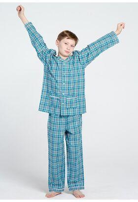 Хлопковая пижама для мальчика в классическом стиле Allegrino Pellegrini_Charly boy 707