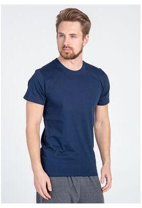 Синяя хлопковая футболка для мужчин Snelly Snelly Uomo_7015 blu