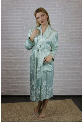 Женский атласный халат из бамбука Silk bamboo (9210)