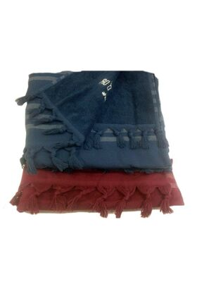 Универсальное махровое полотенце - простынь - накидка PESHTEMAL Violetta 100х200 (LMD)