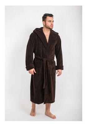 Мужской халат с капюшоном из бамбука Адам (LPL 503)