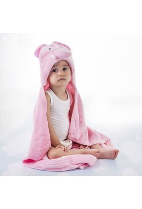 """Детский плед с капюшоном Этелька """"Слон"""" 76х102 см, 100% п/э, микрофибра"""