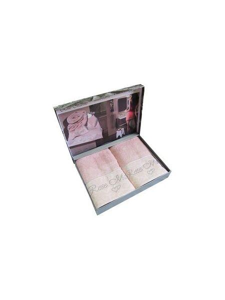 Набор махровых полотенец из бамбука Rose marine (ЕMD) 2 шт.