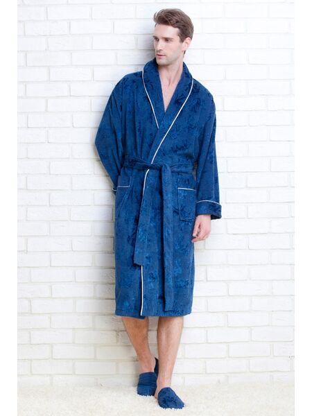 Мужской махровый халат STRONG MAN + тапочки в подарок (PM 923)